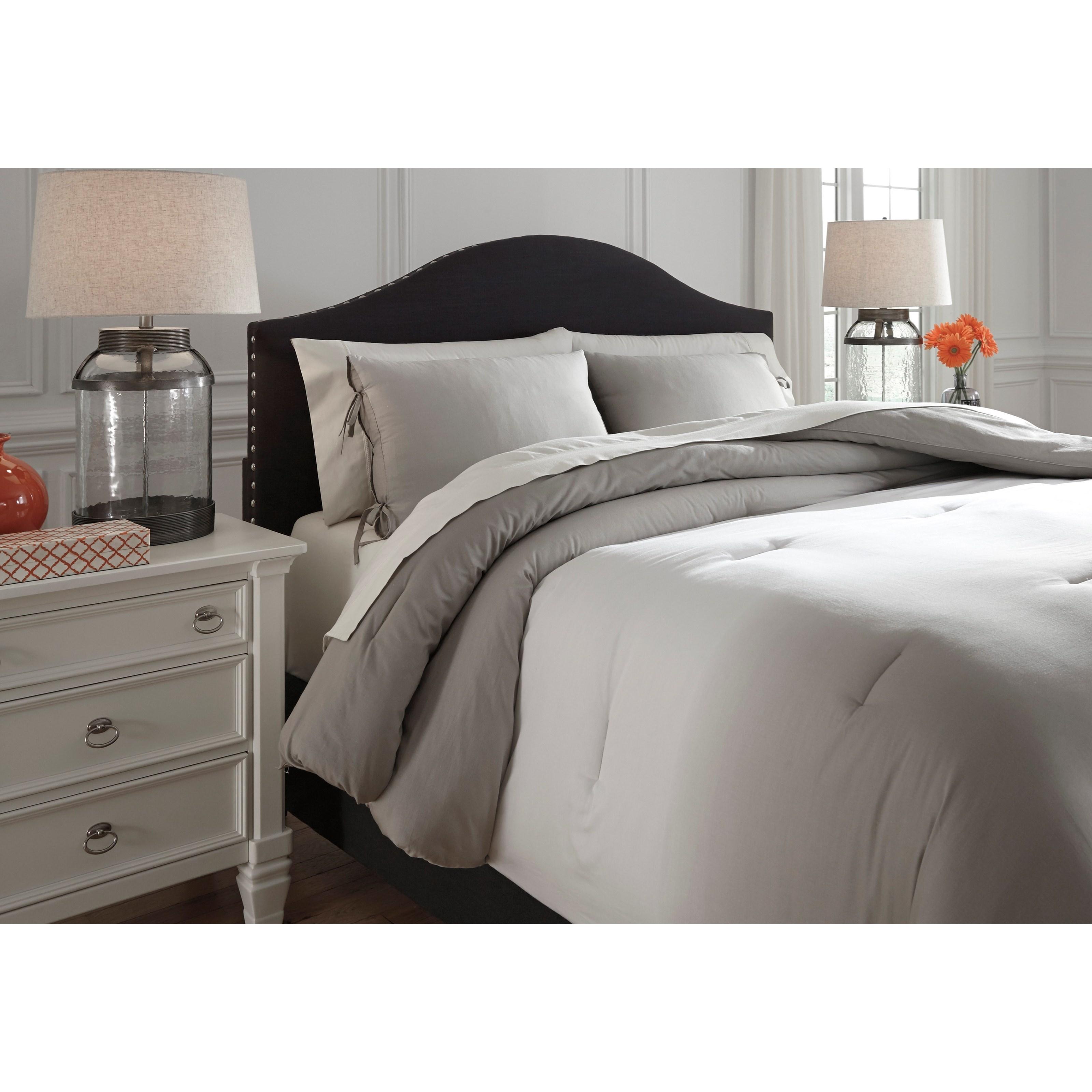 Ashley Signature Design Bedding Sets Q243023k King Aracely Taupe Comforter Set Dunk Bright