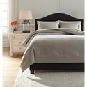 Ashley (Signature Design) Bedding Sets Queen Aracely Taupe Comforter Set - Item Number: Q243023Q