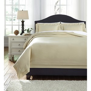 Queen Chamness Sand Duvet Cover Set