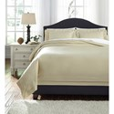 Signature Design by Ashley Bedding Sets Queen Chamness Sand Duvet Cover Set - Item Number: Q249013Q