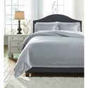 Signature Design by Ashley Bedding Sets Queen Chamness Gray Duvet Cover Set - Item Number: Q249023Q