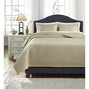 Signature Design by Ashley Bedding Sets King Dietrick Sand Quilt Set - Item Number: Q256013K