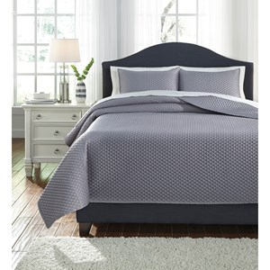 Signature Design by Ashley Bedding Sets King Dietrick Gray Quilt Set