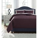 Signature Design by Ashley Bedding Sets Queen Dietrick Plum Quilt Set - Item Number: Q256033Q