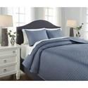 Signature Design by Ashley Bedding Sets Queen Dietrick Blue Quilt Set