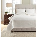 Signature Design Bedding Sets King Dietrick Ivory Quilt Set - Item Number: Q256053K