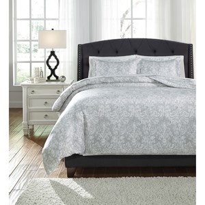 Signature Design by Ashley Bedding Sets King Daniyah Gray Duvet Cover Set