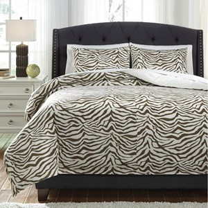 Signature Design by Ashley Bedding Sets King Hyun Beige Duvet Cover Set