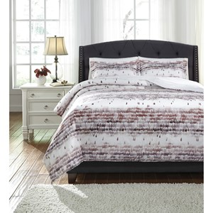 Signature Design by Ashley Bedding Sets Queen Danessa Mulberry Duvet Cover Set