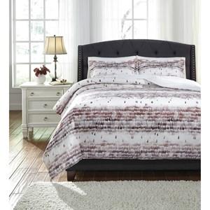 StyleLine Bedding Sets Queen Danessa Mulberry Duvet Cover Set