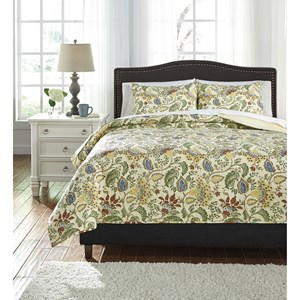 Signature Design by Ashley Bedding Sets Queen Damyan Coverlet Set