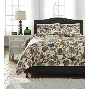 StyleLine Bedding Sets Queen Dameka Floral Duvet Cover Set