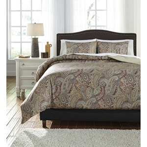 Signature Design by Ashley Bedding Sets Queen Damonica Duvet Cover Set