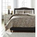 Ashley (Signature Design) Bedding Sets King Damonica Duvet Cover Set - Item Number: Q269003K