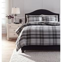 Ashley (Signature Design) Bedding Sets King Danail Gray Duvet Cover Set - Item Number: Q278013K