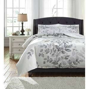 Signature Design by Ashley Bedding Sets King Dangela Gray Duvet Cover Set