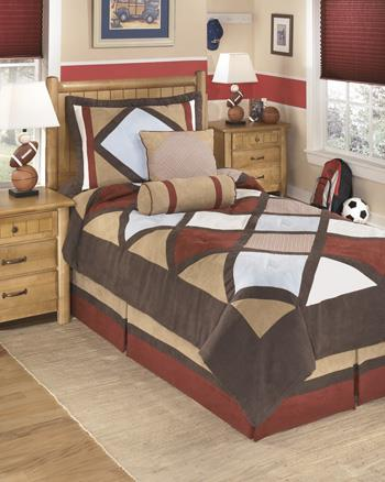 Signature Design by Ashley Bedding Sets Twin Academy Multi Top of Bed Set - Item Number: Q292001T