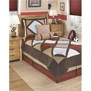 Signature Design by Ashley Bedding Sets Twin Academy Multi Top of Bed Set