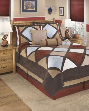 Signature Design by Ashley Bedding Sets Full Academy Multi Top of Bed Set - Item Number: Q292003F