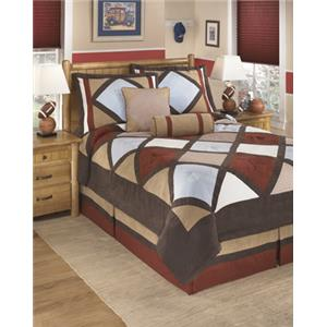 Signature Design by Ashley Bedding Sets Full Academy Multi Top of Bed Set