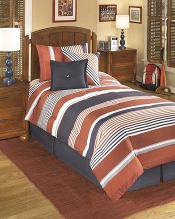 Twin Manning Stripe Top of Bed Set