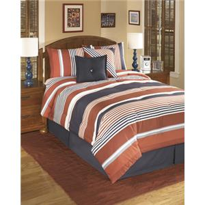 Signature Design by Ashley Bedding Sets Full Manning Stripe Top of Bed Set