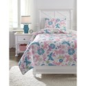 Signature Design by Ashley Bedding Sets Twin Jobeth Quilt Set - Item Number: Q318001T