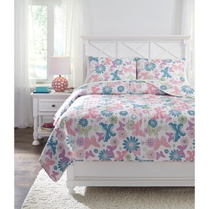 Signature Design by Ashley Bedding Sets Full Jobeth Quilt Set