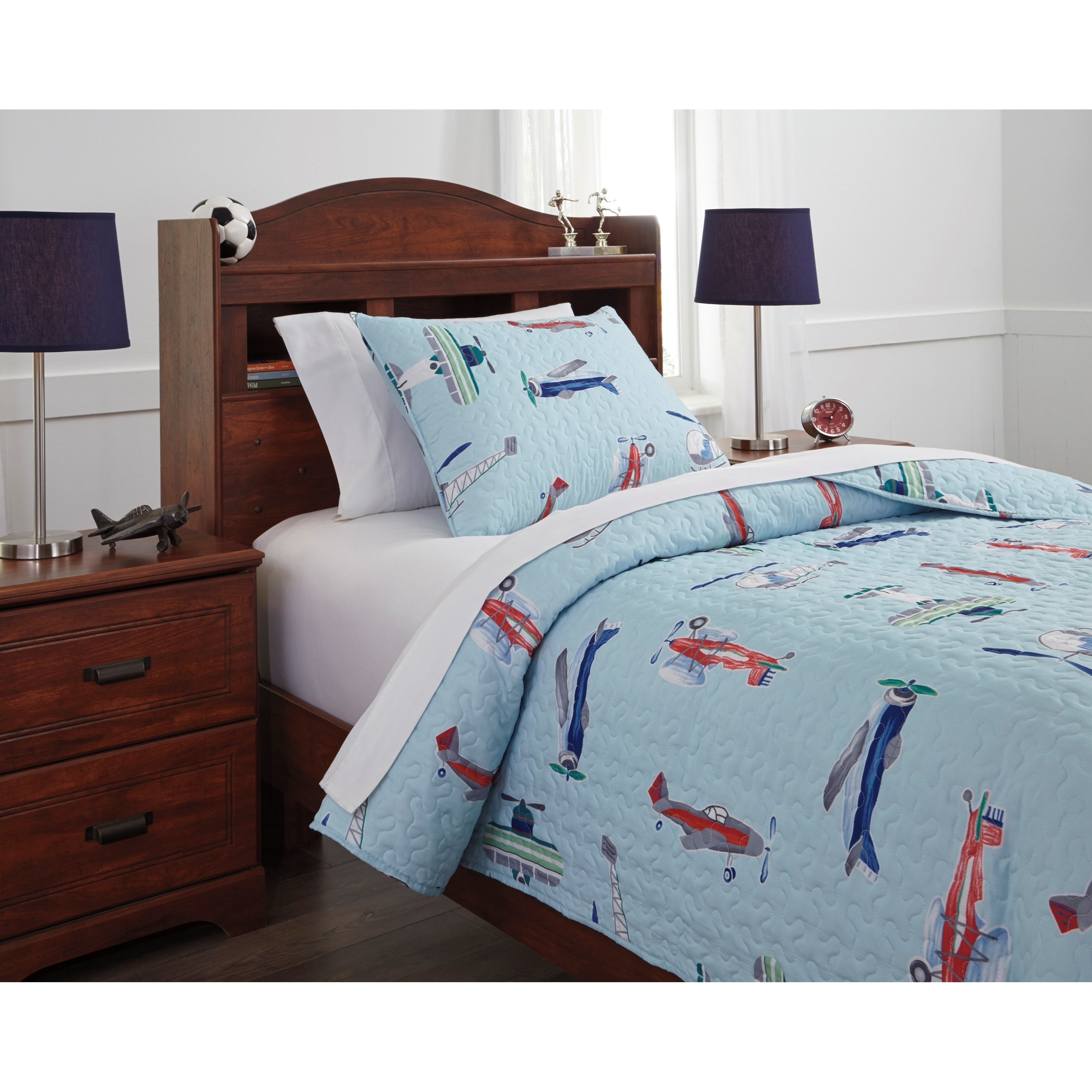 Signature Design By Ashley Bedding Sets Q320001t Twin Mcallen Quilt Set Household Furniture