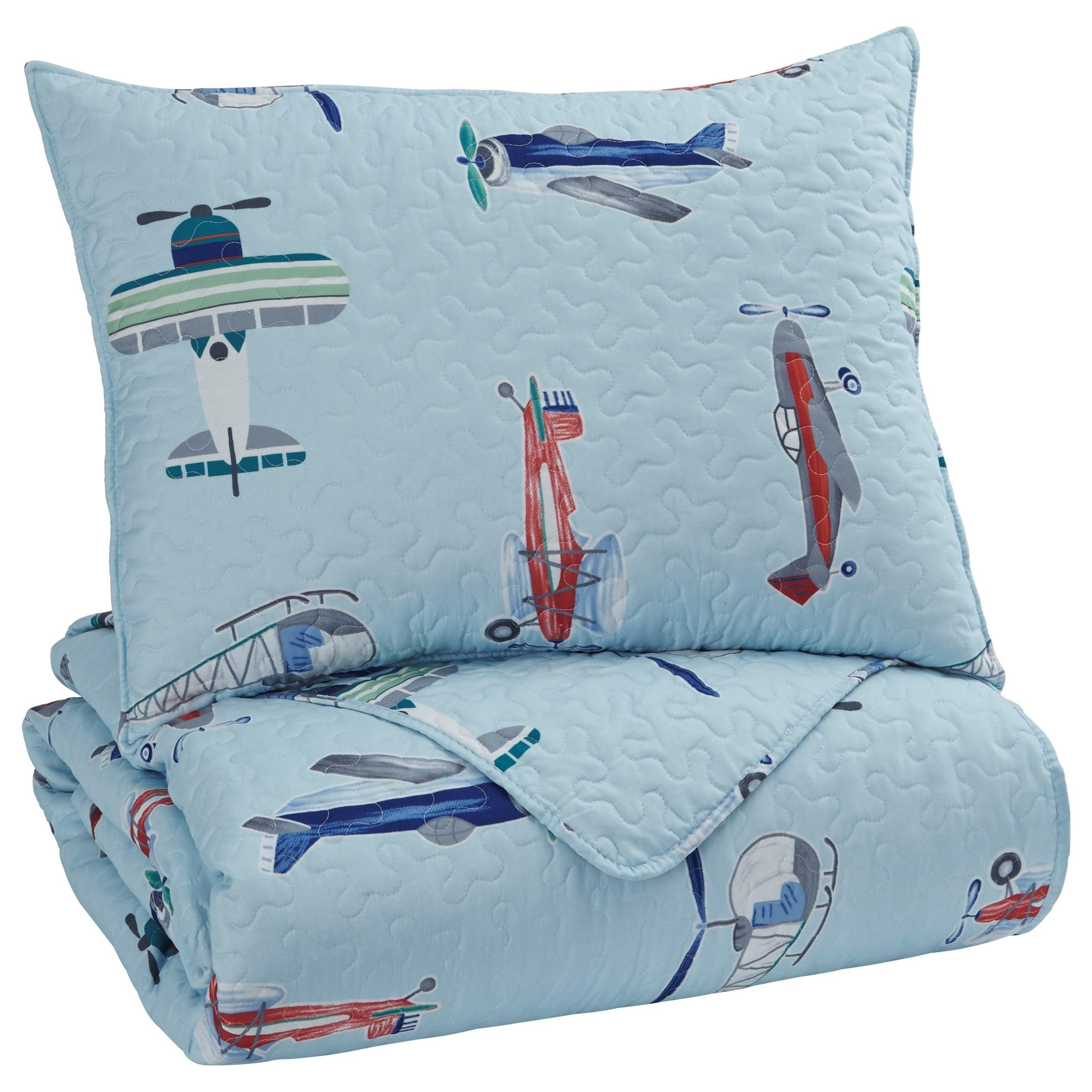 Ashley Signature Design Bedding Sets Twin Mcallen Quilt Set Johnny Janosik Bedding Sets