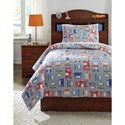 Signature Design by Ashley Bedding Sets Twin Beaverton Quilt Set - Item Number: Q321001T