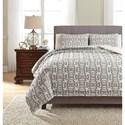 Ashley (Signature Design) Bedding Sets King Nilay Black/Ivory Duvet Cover Set - Item Number: Q323003K