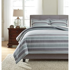 Signature Design by Ashley Bedding Sets King Asante Multi Duvet Cover Set