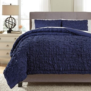 Signature Design by Ashley Bedding Sets Queen Marksville Indigo Duvet Cover Set