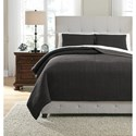 Signature Design by Ashley Bedding Sets Queen Bronx Black/Gray Coverlet Set - Item Number: Q336003Q