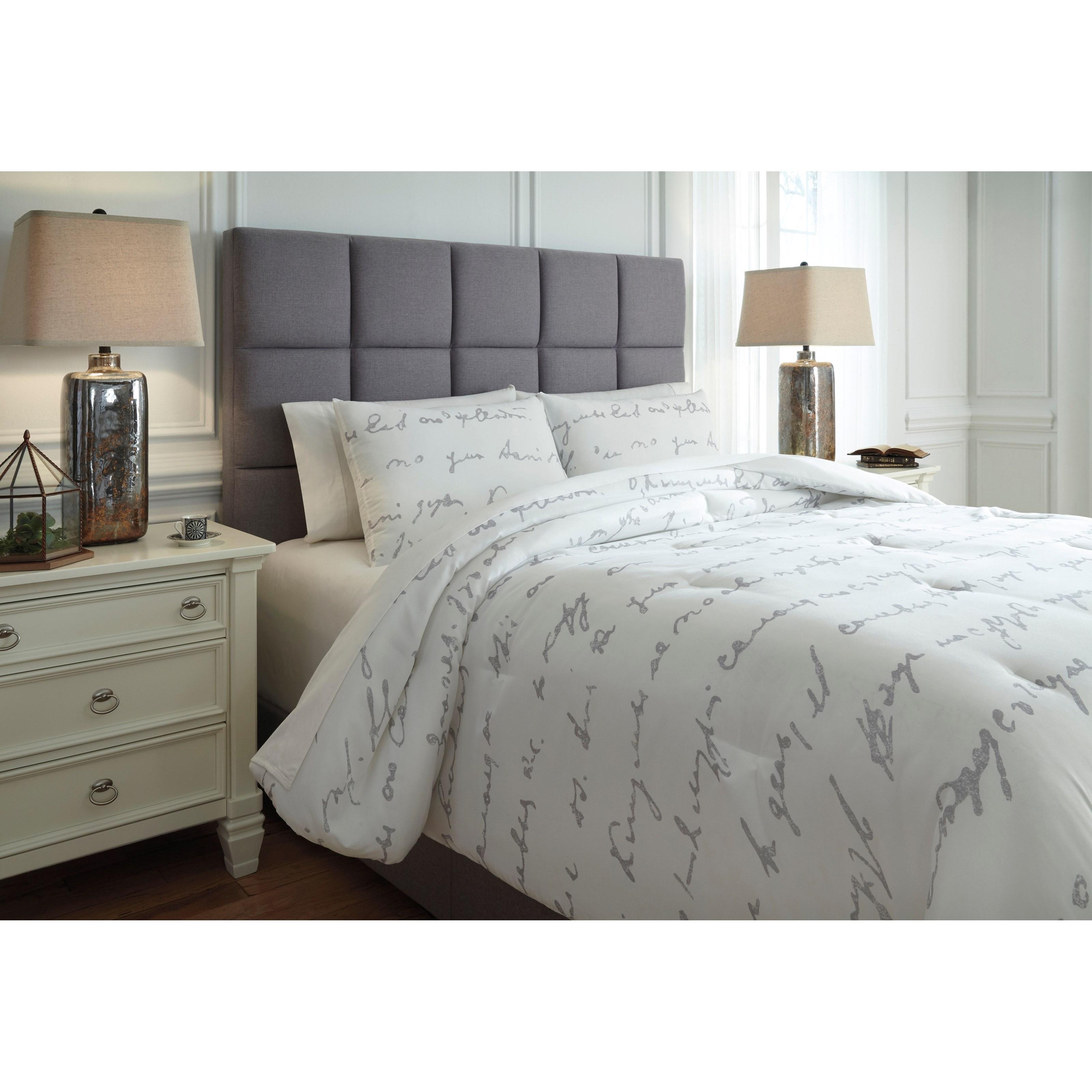 Ashley Signature Design Bedding Sets Queen Adrianna White