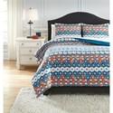 Ashley (Signature Design) Bedding Sets King Jackalyn Multi Comforter Set - Item Number: Q347003K