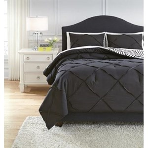 Signature Design by Ashley Bedding Sets Queen Jaylee Black Comforter Set