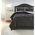 Ashley (Signature Design) Bedding Sets Queen Jaylee Black Comforter Set - Item Number: Q348003Q