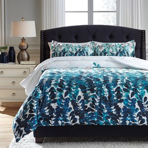 Signature Design by Ashley Bedding Sets King Clearfield Bluel Comforter Set