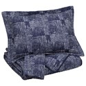 Signature Design by Ashley Bedding Sets Queen Jabesh Navy Quilt Set