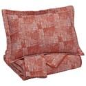 Signature Design by Ashley Bedding Sets King Jabesh Orange Quilt Set