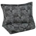 Signature Design by Ashley Bedding Sets Queen Jabesh Black Quilt Set