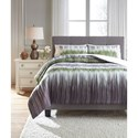 Ashley (Signature Design) Bedding Sets Queen Agustus Gray/Green Comforter Set - Item Number: Q366003Q