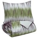 Signature Design by Ashley Bedding Sets Queen Agustus Gray/Green Comforter Set