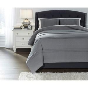 Queen Mattias Slate Blue Comforter Set