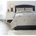 Signature Design by Ashley Bedding Sets Queen Jawanza Gray Comforter Set - Item Number: Q378003Q