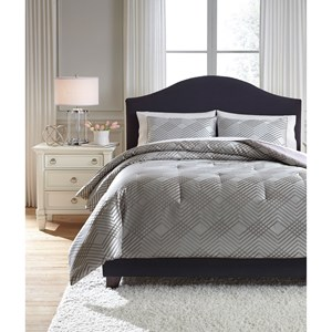Signature Design by Ashley Bedding Sets King Anjelita Pewter Comforter Set