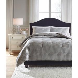 Ashley Signature Design Bedding Sets Queen Anjelita Pewter Comforter Set