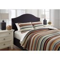 Ashley (Signature Design) Bedding Sets Queen Wiley Multi Quilt Set - Item Number: Q386003Q